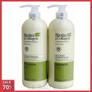 [ HÀNG CHÍNH HÃNG] Cặp dầu gội xả Biotin collagen (Dung tích mỗi chai 1000 ml)[xanhh] - 212121111 thumbnail