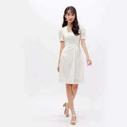 Váy Đầm Công Sở Thời Trang Eden Tay Phồng Cổ Vuông - D380