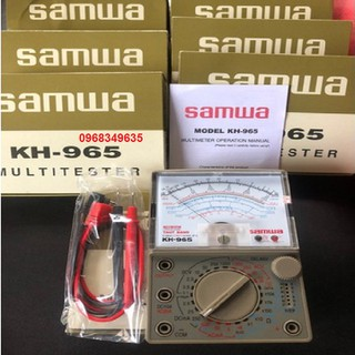 Đồng hồ vạn năng Samwa KH - 965 đồng hồ kim đo chuẩn xác, ổn định lâu dài - Loại 1 - Đồng hồ vạn năng - đồng hồ thumbnail