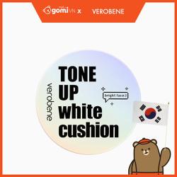 Phấn Nước Cushion Dưỡng Ẩm Mềm Mại Nâng Tone Da Verobene Tone Up White Cushion GomiMall