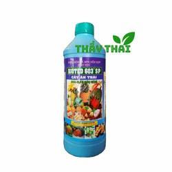Bioted 603 cây ăn trái [Giá sỉ] Phân bón lá NPK sinh học Bioted 603 SP-RM Mận, Xoài, Sầu riêng-1 lít-Bổ sung dưỡng chất khoáng – vi lượng cần thiết cho cây trồng– Tăng năng suất và phẩm chất nông sản