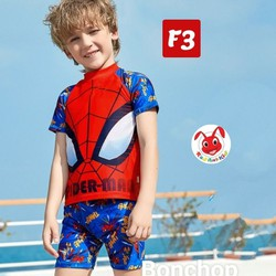 Đồ bơi bé trai hình siêu nhân nhện 10-40kg - vải thun chuyên dùng cho đồ bơi, độ co giãn cực tốt- Red Ant Kids