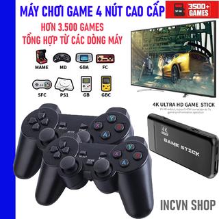 MÁY CHƠI GAME - MÁY ĐIỆN TỬ 4 NÚT GAME STICK 4K HDMI PS 3000 TRÒ - MÁY GAME 2 CẦM TAY CÓ KẾT NÔI TIVI - 2136_44353464 thumbnail