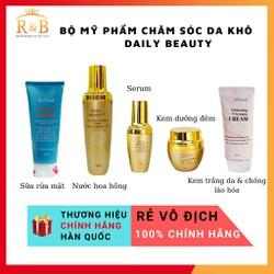 Bộ mỹ phẩm chăm sóc da khô Daily Beauty Re:Excell gồm sữa rửa mặt toner serum kem dưỡng ban đêm kem dưỡng ban ngày