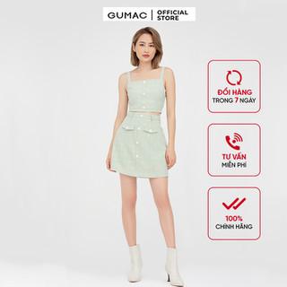 Áo hai dây nữ phối nút cá tính GUMAC AB478 - AB478 thumbnail