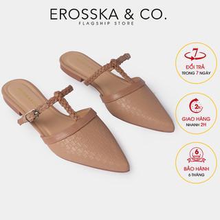 Dép đế bệt Erosska mu i nho n hơ go t phô i dây cao 2cm EL018 - EL018 thumbnail