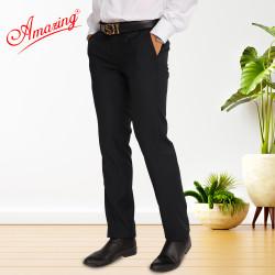 Big size, quần tây nam trung niên Amazing, màu đen và xanh đen, form truyền thống, không ly, ống đứng