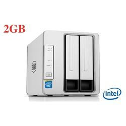 Ổ cứng mạng NAS TerraMaster F2-221, CPU Intel 2GHz, RAM 2GB, 2 khay ổ cứng
