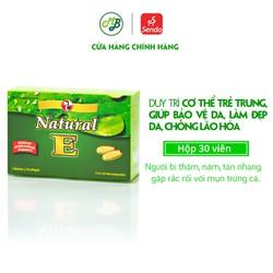 Viên uống hỗ trợ chống oxy hóa, giảm lão hóa da, làm đẹp da – NATURAL E – Robinson Pharma USA-Hộp 30 viên