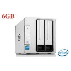 Ổ cứng mạng NAS TerraMaster F2-221, CPU Intel 2GHz, RAM 6GB, 2 khay ổ cứng
