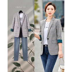 [Areum_Vest] - Áo vest blazer nữ sọc Lineone