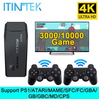 MÁY CHƠI GAME - MÁY ĐIỆN TỬ 4 NÚT GAME STICK 4K HDMI PS 3000 TRÒ - MÁY GAME 2 CẦM TAY CÓ KẾT NÔI TIVI - MÁY ĐIỆN TỬ 4 NÚT GAME STICK 4K HDMI PS 3000 thumbnail