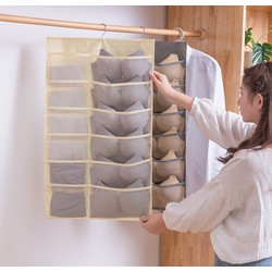 COMBO 2 túi treo đồ lót nhiều ngăn - loại có móc treo và 2 mặt để đồ siêu tiện lợi