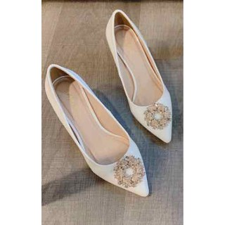 Giày cao gót nữ gót nhọn khuy đá đẹp - G273773 thumbnail