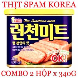 COMBO 2 HỘP SPAM HÀN QUỐC 340G THE LUNCHEON MEAT DATE 2024 Nhập KOREA