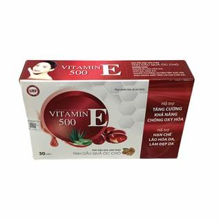 Viên uống đẹp da vitamin E 500- Thành Phần Tinh Dầu Quả Óc Chó, Hoa Anh Thảo Giúp Đẹp Da, Mờ Nám, Cân Bằng Nội Tiết Tố- hộp 30 viên - vitamin E 500-vỉ 30 viên thumbnail