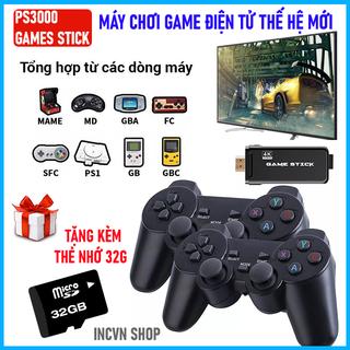 Nhanh tay sở hữu máy chơi game cầm tay 4 nút cao cấp tích hợp 3000 trò chơi hay nhất - game cổ điển hay nhất mọi thời đại - GAME STICK 4K 3000 GAMES thumbnail