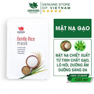 Mặt Nạ Gạo Dưỡng Trắng Dưỡng Ẩm Thải Độc Ngừa Lão Hóa Da Gentle Rice Mask Chính Hãng Linh Hương - MNGLH thumbnail