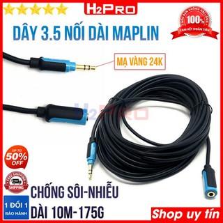 Dây 3.5 nối dài MAPLIN H2Pro cao cấp chống nhiễu-sôi dài 10m, dây 1 đầu jack 3.5 ra đầu 3.5 cái nối dài tai nghe-loa - H2WW805 thumbnail