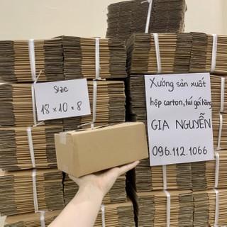 Hộp carton gói hàng 18x10x8 đóng gói đồ mỹ phẩm quần áo - đóng hàng Gia Nguyễn - hộp carton đóng gói mỹ phẩm thumbnail
