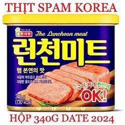 THỊT SPAM HÀN QUỐC HỘP 340G DATE 2024 THE LUCHEON MEAT OK