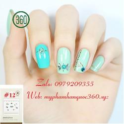 Sticker Tạo Kiểu Trang Trí Móng - Self nail sticker - jewel 12