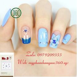 Sticker Tạo Kiểu Trang Trí Móng - Self nail sticker - jewel 9