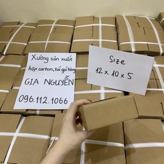 Hộp carton cỡ nhỏ 12x10x5 dùng đựng trang sức, gói hàng nhỏ gọn - bao bì Gia Nguyễn - hộp đựng trang sức thumbnail