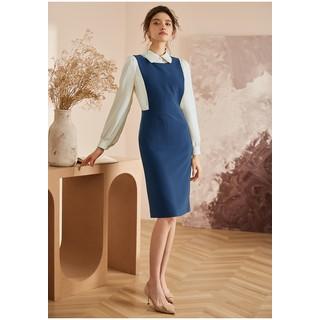 Đầm yếm sơ mi tay dài hai màu trang trọng - 0009714 thumbnail