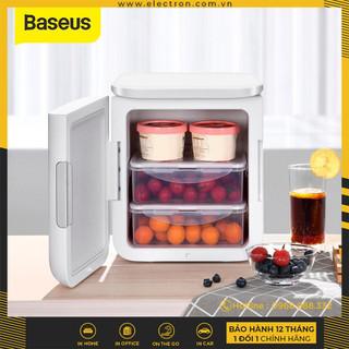 Tủ lạnh mini Baseus Igloo Mini Fridge for Students (6L, 220V, làm mát và giữ ấm) - ACXBW-A04 thumbnail