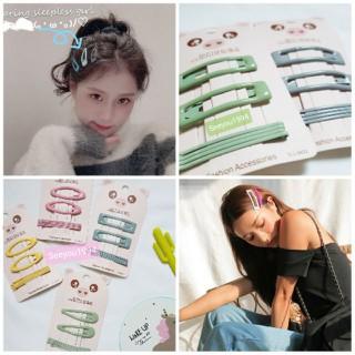 Set Kẹp Bấm kèm Kẹp Tăm Cùng Tông Màu Hàn Quốc Phủ Bóng - 7720514518 thumbnail