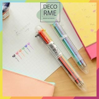 Bút bi bấm 6 màu phụ kiện văn phòng phẩm Decorme - 283777596 thumbnail