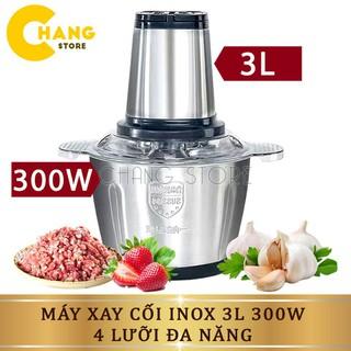 Máy Xay Thịt Đa Năng Cối INOX 304, 2L Công Suất 300W 4 Lưỡi Kép - Cối xay thực phẩm, rau củ - 6183602719 thumbnail
