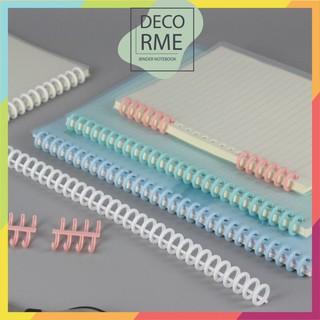Binder thanh còng nhựa cao cấp đường kính 12mm phụ kiện sổ còng sổ planner DecorMe - 4456969585 thumbnail