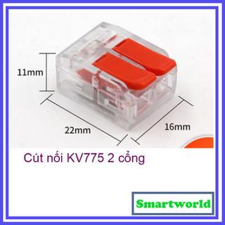 Cút nối dây điện nhanh KV775 2 cổng loại mới cực tốt cho dây tối đa 6.0mm - chịu tải 40A - kv775 thumbnail