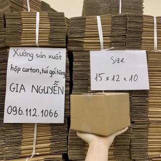 Hộp carton 15x12x10, thùng bìa cứng gói hàng Gia Nguyễn 5.0 - hộp bìa cứng thumbnail