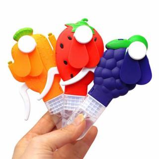 Quạt Nhựa Bấm Tay Cơ Kèm Thổi Bong Bóng Hoa Quả Cute - 9955456103 thumbnail