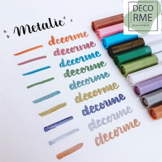 Bút brush pen- bút lông màu metalic ánh kim nhiều màu phụ kiện văn phòng phẩm SJ DecorMe - 8938104172 thumbnail