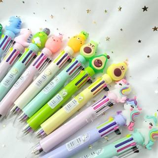 Bút Bi Bấm 8 Màu Siêu Cute Tiện Lợi - 3155248243 thumbnail