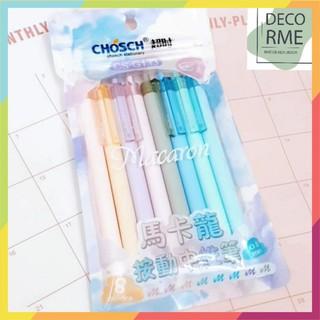 Bút gel màu 0.6mm aron CHOSCH DecorMe 8 màu dễ thương - 7984403489 thumbnail