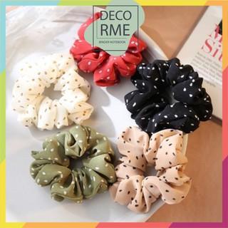Buộc tóc scunchies chấm bi phụ kiện thời trang Decorme - 4242257845 thumbnail