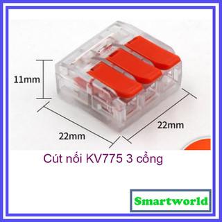 Cút nối dây điện nhanh KV775 3 cổng loại mới cực tốt cho dây tối đa 6.0mm - chịu tải 40A - kv775 - KV7753P thumbnail