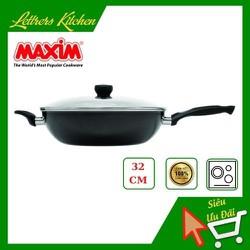 Chảo chống dính nhập khẩu cao cấp 32cm - Kích thước lớn, tiện dụng - sử dụng trên bếp từ, màu sắc nổi bật