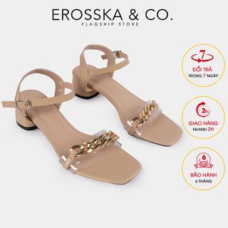 Giày sandal quai xích Erosska kiểu dáng Hàn Quốc cao 5cm màu nude - EB035 - EB035 thumbnail