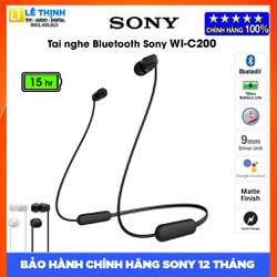 Tai nghe Bluetooth Sony WI-C200 - Hàng chính hãng - Bảo hành chính hãng Sony 12 tháng toàn quốc