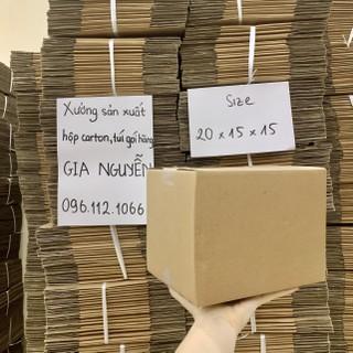 Hộp đóng gói hàng carton 20x15x15, thùng bìa cứng đóng hàng Gia Nguyễn - hộp carton đựng đồ thumbnail