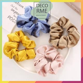 Buộc tóc scunchies lụa trơn nhiều màu phụ kiện thời trang Decorme - 3642353686 thumbnail