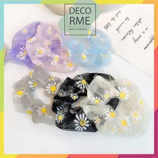 Buộc tóc scunchies hoa cúc voan - 7042260057 thumbnail