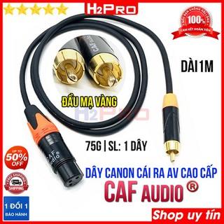 Dây canon cái ra AV Caf AUDIO cao cấp dài 1m H2Pro ( 1 dây ), dây canon cái dài 1m hàng chất lượng cao, cho âm thanh chuẩn - 3249_44612177 thumbnail