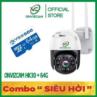 [COMBO SIÊU HỜI] Camera giám sát wifi ONVIZCAM HK30 ngoài trời xoay 360 chống nước CARECAM 3.0 MPx có kết nối smart TV kèm thẻ nhớ - camhk30 thumbnail